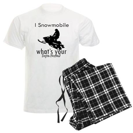 I Snowmobile Men's Light Pajamas