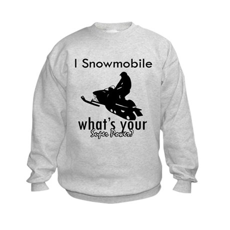 I Snowmobile Kids Sweatshirt