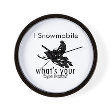 I Snowmobile Wall Clock