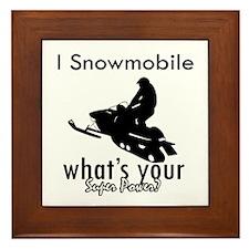 I Snowmobile Framed Tile