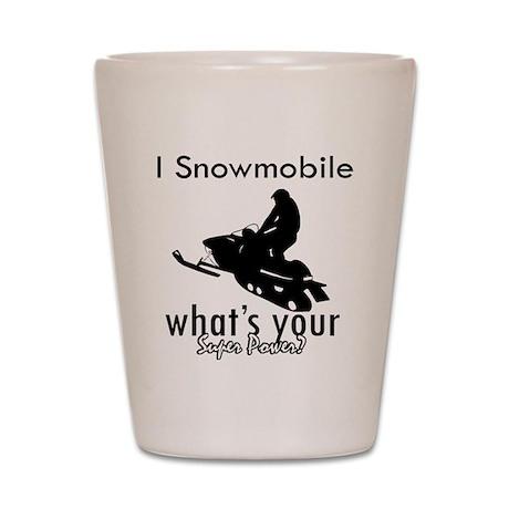I Snowmobile Shot Glass