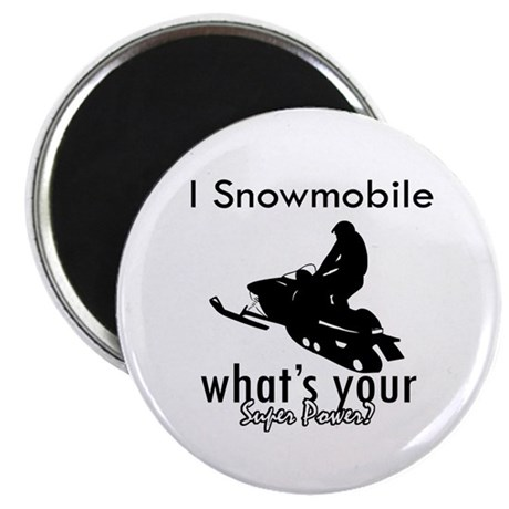 """I Snowmobile 2.25"""" Magnet (100 pack)"""