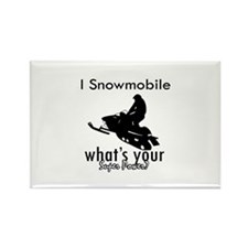I Snowmobile Rectangle Magnet