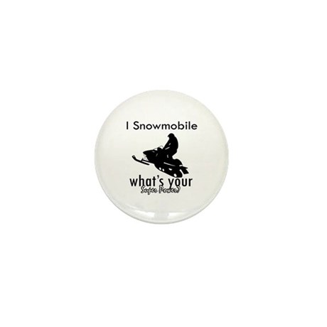 I Snowmobile Mini Button (100 pack)