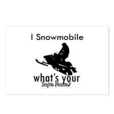 I Snowmobile Postcards (Package of 8)
