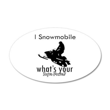 I Snowmobile 38.5 x 24.5 Oval Wall Peel