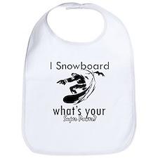 I Snowboard Bib