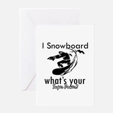 I Snowboard Greeting Card