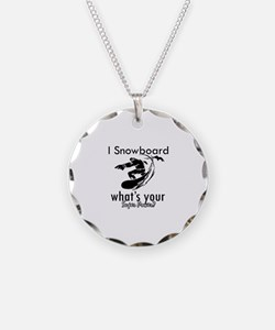 I Snowboard Necklace