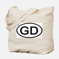 GD - Initial Oval Tote Bag
