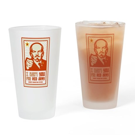 Soviet Red Army I Want You Drinking Glass
