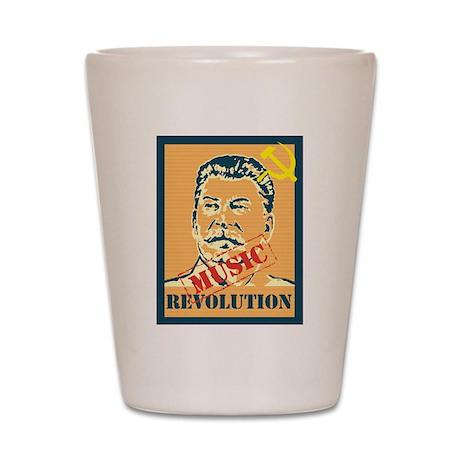 Stalin House Music Revolution Shot Glass