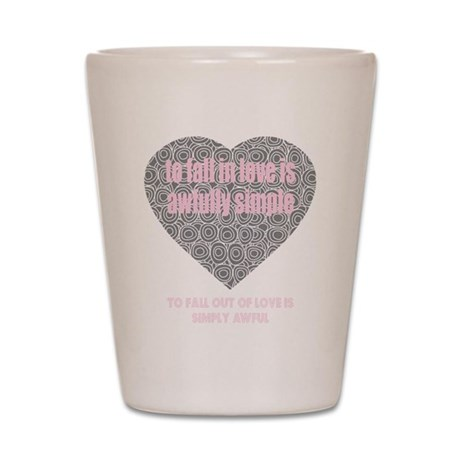 Valentines Day Fall In Love Shot Glass