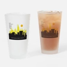 silhouette yellow - Drinking Glass