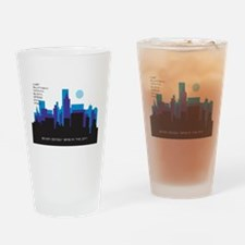 silhouette blue - Drinking Glass