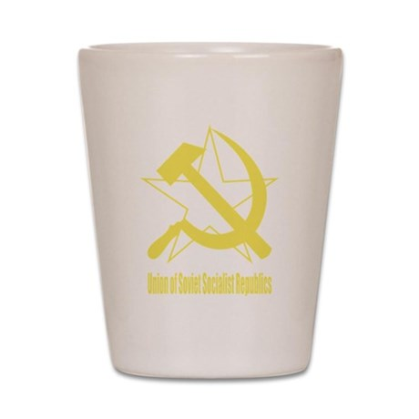 Soviet Hammer & Sickle Yellow Shot Glass