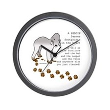 Bedlington Terriers Wall Clock