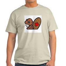 Canadian Beaver Ash Grey T-Shirt