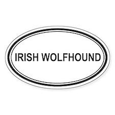 Irish Wolfhound Euro Oval Decal
