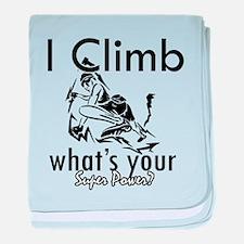 I Climb baby blanket