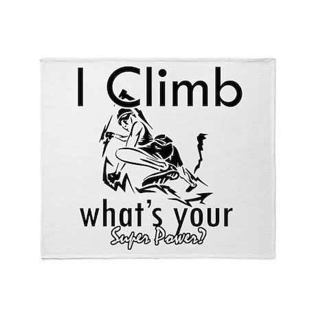 I Climb Throw Blanket