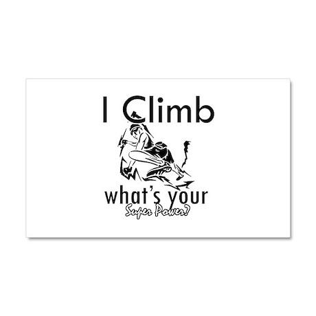I Climb Car Magnet 20 x 12