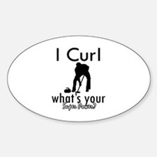 I Curl Sticker (Oval)
