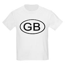 GB - Initial Oval Kids T-Shirt