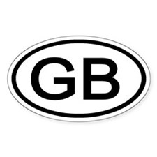 GB - Initial Oval Oval Decal