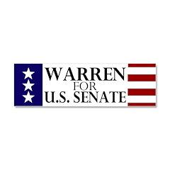Warren for Senate Car Magnet 10 x 3