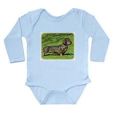 Dachshund 8R020D-23 Long Sleeve Infant Bodysuit