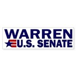Elizabeth Warren US Senate Sticker (Bumper)