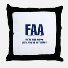 FAA - Mission Statement Throw Pillow