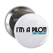 "I'm a Flight Simulator Pilot 2.25"" Button"