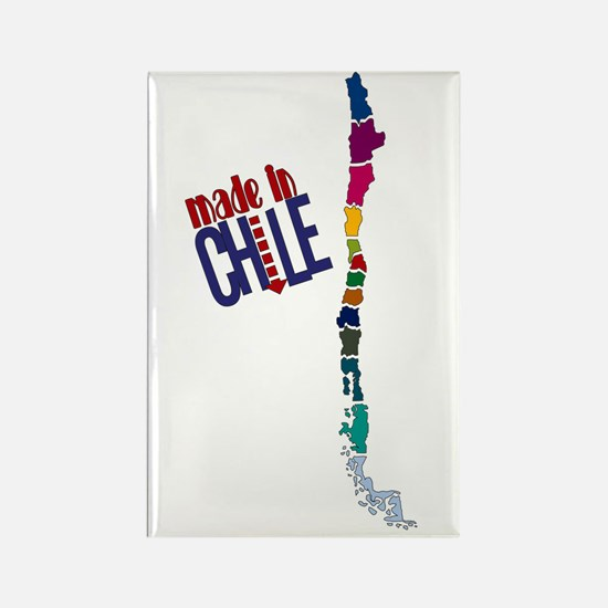 Made in Chile - Map Rectangle Magnet