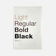 Helvetica Neue Rectangle Magnet