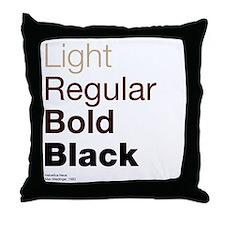 Helvetica Neue Throw Pillow