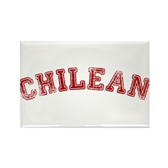Chilean - Red Rectangle Magnet