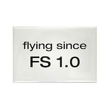 flying since FS 1.0 Rectangle Magnet