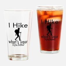 I Hike Drinking Glass