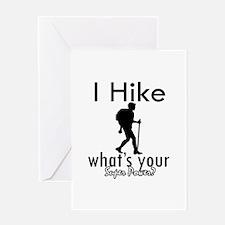 I Hike Greeting Card