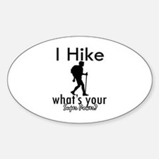 I Hike Decal
