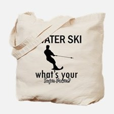 I Water Ski Tote Bag