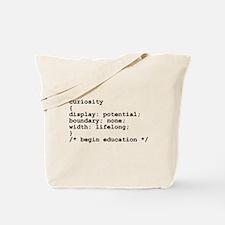 Curiosity CSS Tote Bag