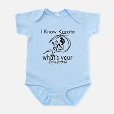 I know karate Infant Bodysuit