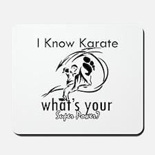 I know karate Mousepad