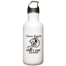I know karate Water Bottle
