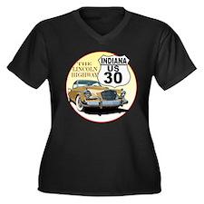 Unique Studebaker Women's Plus Size V-Neck Dark T-Shirt