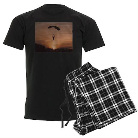 Men's Dark Pajamas with Sunset Skydiver