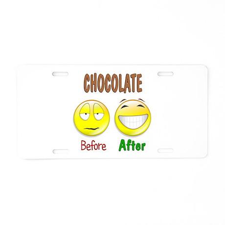 Chocolate Humor Aluminum License Plate